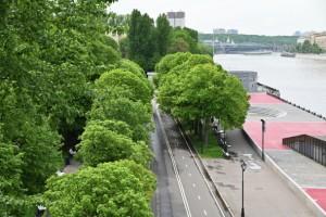 В Парке Горького провели восстановительные работы после оползня из-за ливней