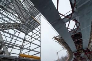 Началось устройство опор и пролетного строения путепровода через МКАД по Алтуфьевскому шоссе
